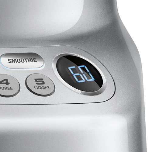 the Fresh & Furious™ Blender In Silver lcd display