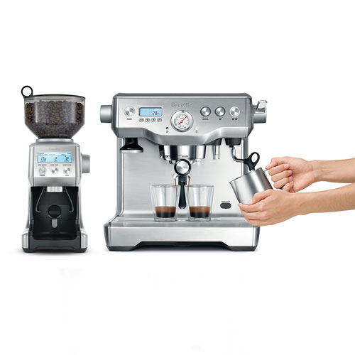 the Dynamic Duo™ Espresso Machine In Brushed Stainless Steel Precise and Repeatable Extraction