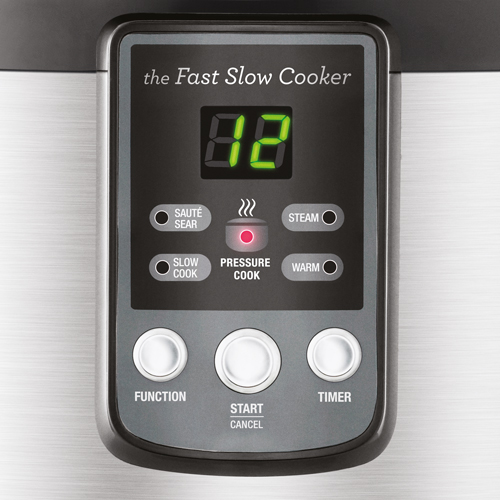 the Fast Slow Cooker™ Cookers In Brushed Stainless Steel multi function cooking