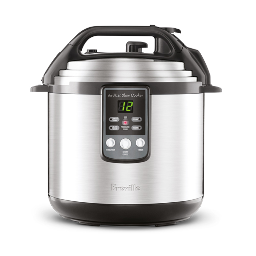 the Fast Slow Cooker™ Cookers In Brushed Stainless Steel pressure and slow cook capability