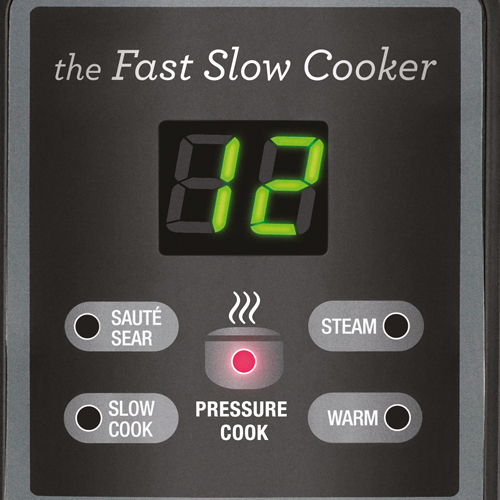 the Fast Slow Cooker™ Cookers In Brushed Stainless Steel LED Display