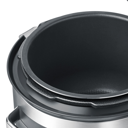 the Fast Slow Cooker™ Cookers In Brushed Stainless Steel removable bowl