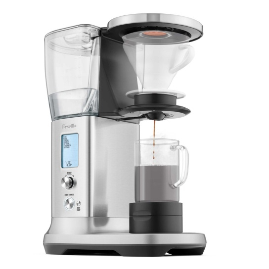 the Breville Precision Brewer® Thermal Coffee Machine in Brushed Stainless Steel side view
