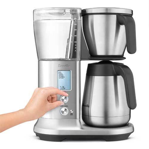 the Breville Precision Brewer™Thermal Coffee Machine In Brushed Stainless Steel automatic presets