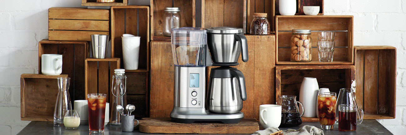the Breville Precision Brewer™ Thermal coffee machine in brushed stainless steel