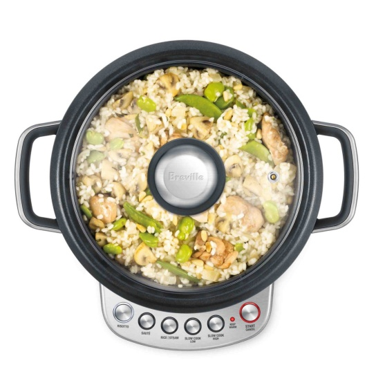 the Risotto plus Cookers In Brushed Stainless Steel With Rissoto