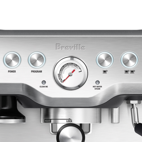 the Infuser Espresso in Brushed Stainless Steel flexible shot control