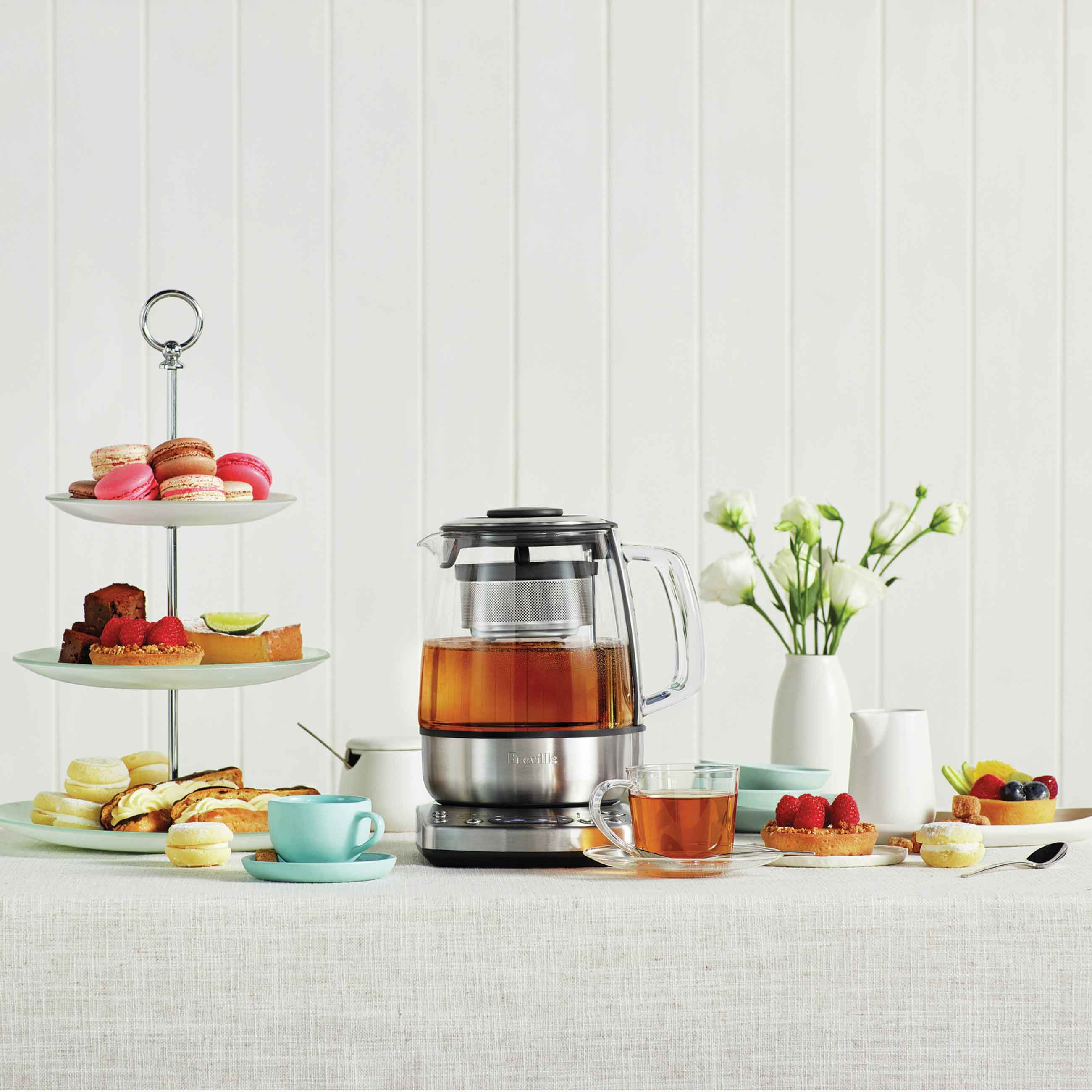 the Tea Maker Tea in Brushed Stainless Steel lifestyle